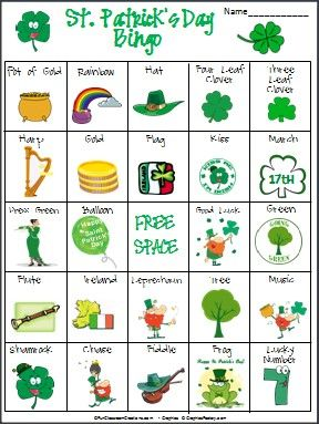 St. Patrick's Day Bingo | St patrick day activities, St ...