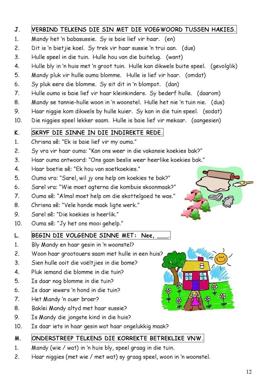 Graad 4 Afrikaans Woorddele Worksheetcloud Online Lesson Cute766
