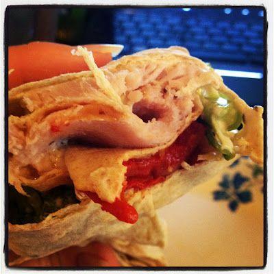 Broccoli, Turkey, and Cheese Lavash Wrap