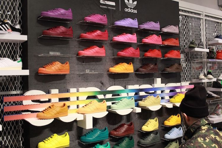 new products 1d95c 7b457 Here s What Happened at the Pharrell x adidas Superstar Supercolor  Collection Release in NYC