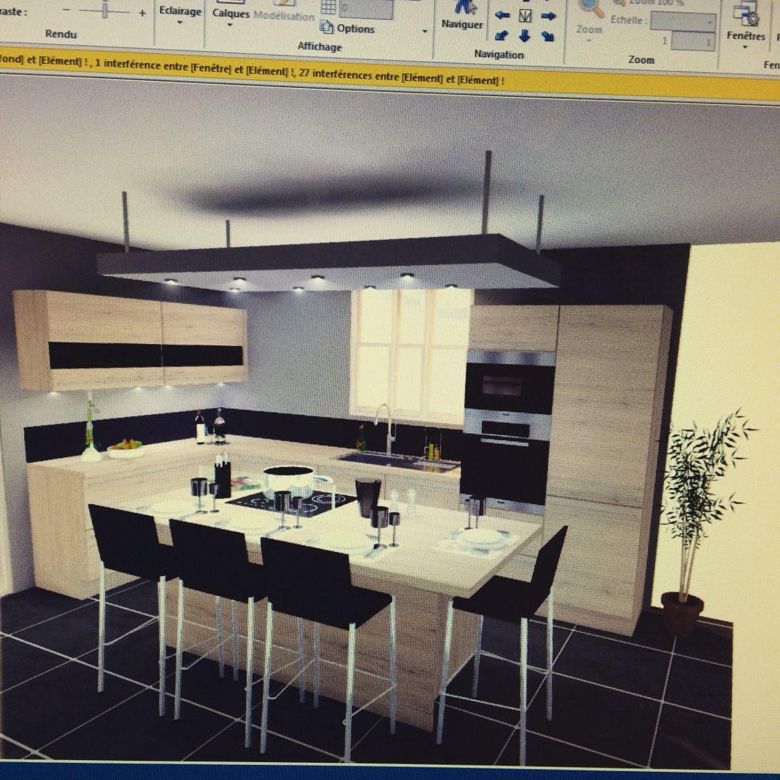 cuisine moderne en bois nobilia rocka interior pinterest cuisine bois moderne. Black Bedroom Furniture Sets. Home Design Ideas