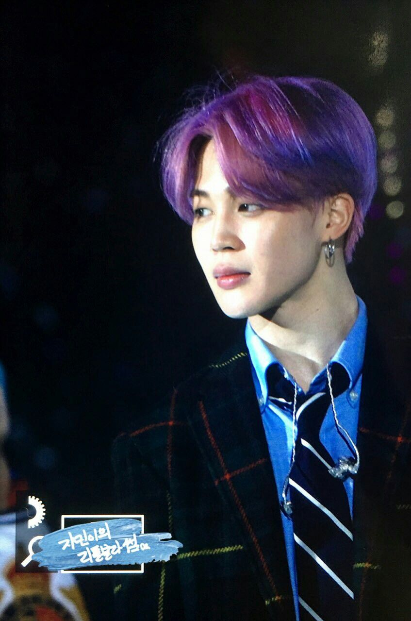 Jimin Purple Hair Baby Chimchim In 2019 Bts Jimin Bts Hairstyle