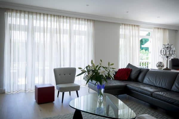 Voile Curtains   An Elegant Companion For Large Glazed Areas