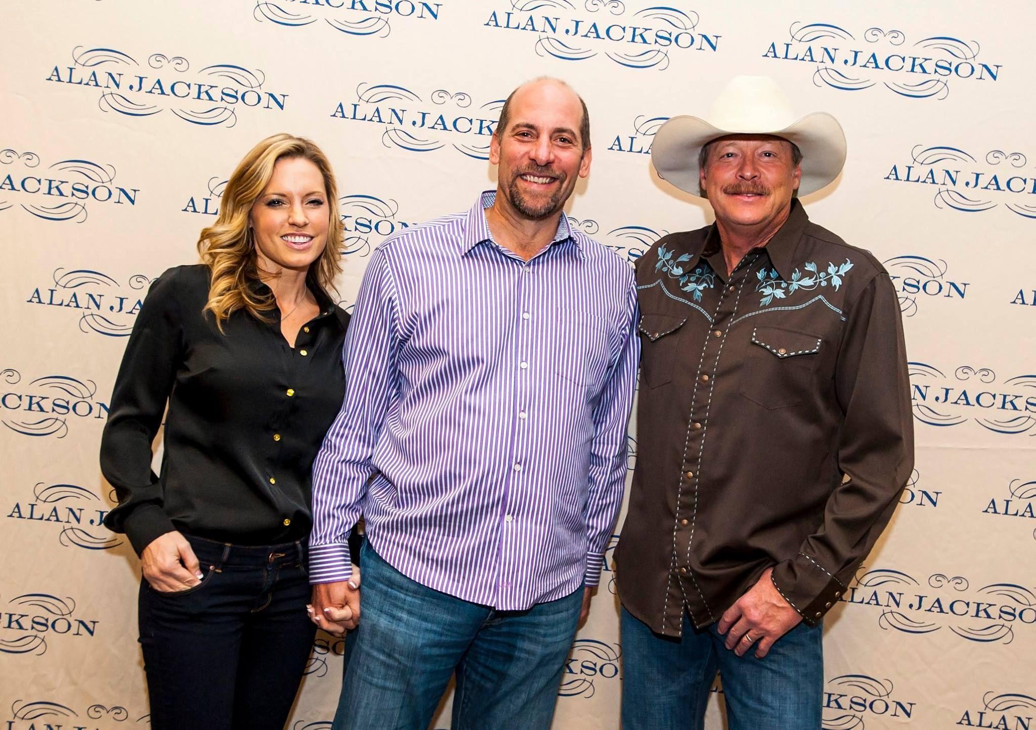 With John Smoltz Atlanta Pitcher And His Wife Alan Jackson