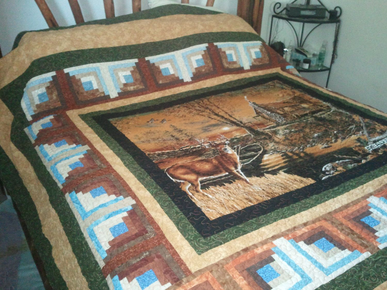 Wildlife Deer Quilt Hunter Sportsman Quilt By