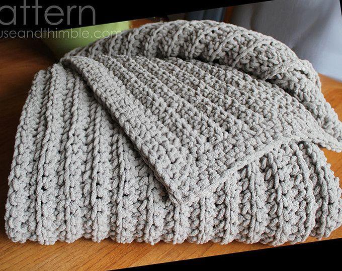Extra Large Chunky Afghan Beginner Crochet PATTERN 50 | Crochet ...