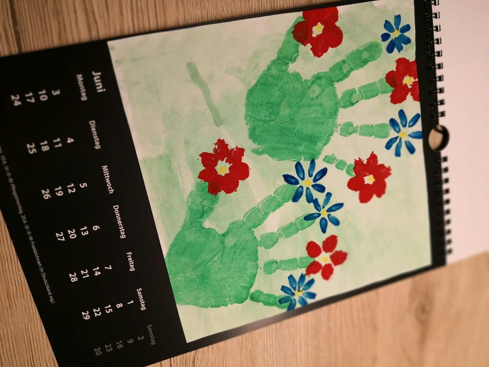 JUNI DIY Jahreskalender  #kalendergestaltenkinder