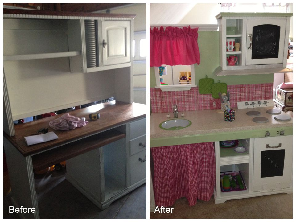 DIY Kids Play Kitchen cute but wouldn\'t that be too tall ...