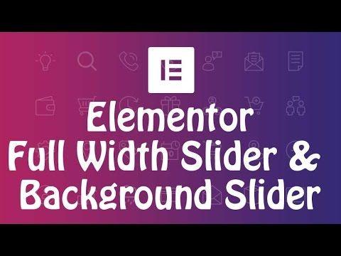 How to create full width background image slider in Elementor 2 - copy api blueprint accept header