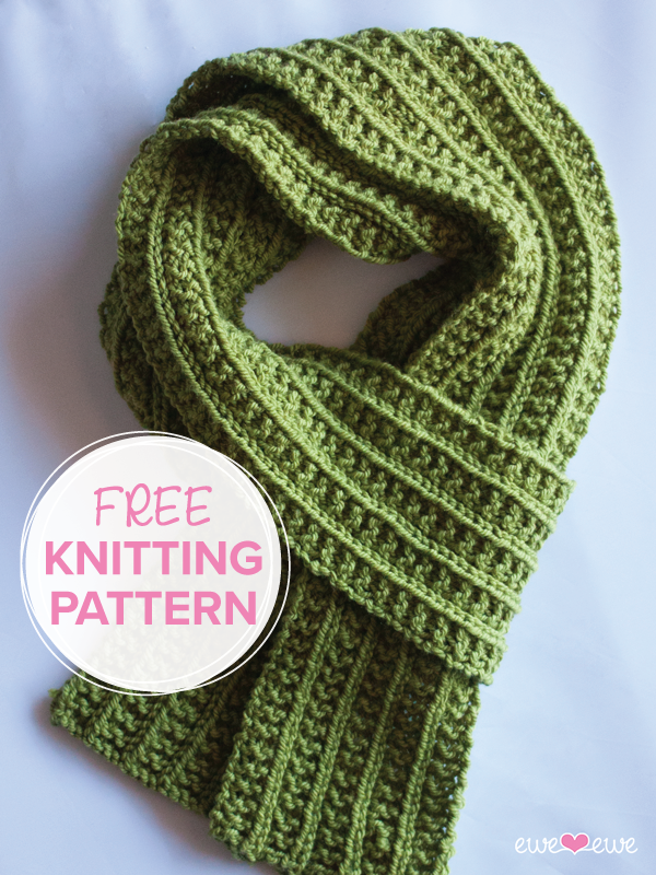Wainscot Scarf Free Knitting Pattern Wainscoting Timeless