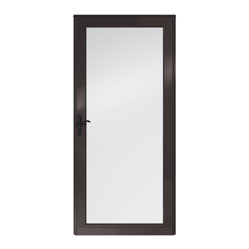 Andersen 3000 Series Full View Interchangeable Aluminum Storm Door The Home Depot Aluminum Storm Doors Storm Door Andersen Storm Doors