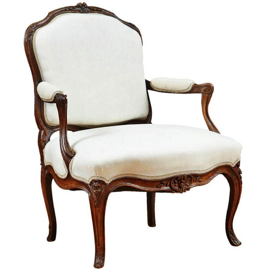 Antique french louis xv fauteuil a la reine c 1760