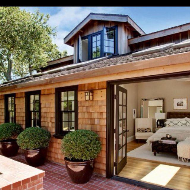 Shingle Siding For Homes: Cedar Shake And Dark Windows