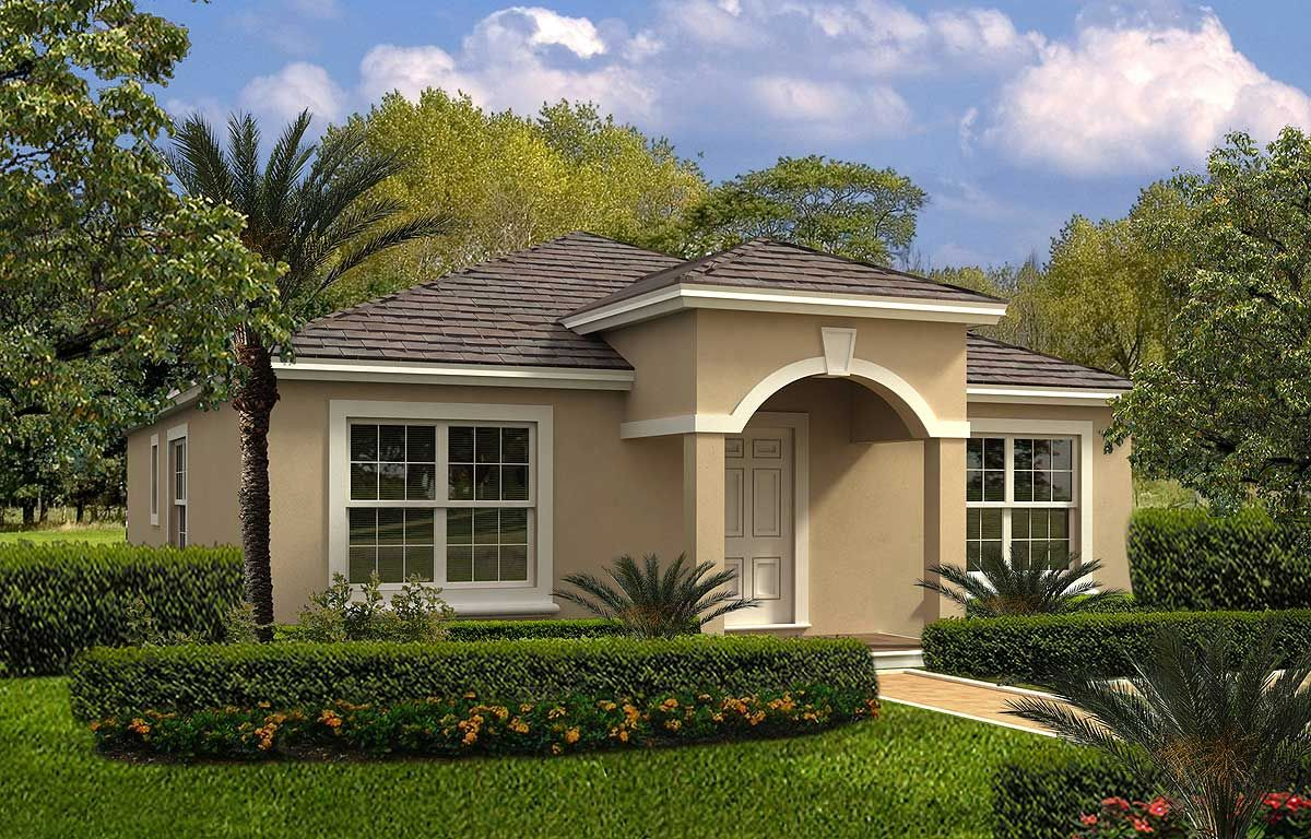 Plan 32112aa 3 Bed Florida Style Home With Main Floor Master In 2021 Mediterranean House Plans Spanish Style Homes Mediterranean Style Homes