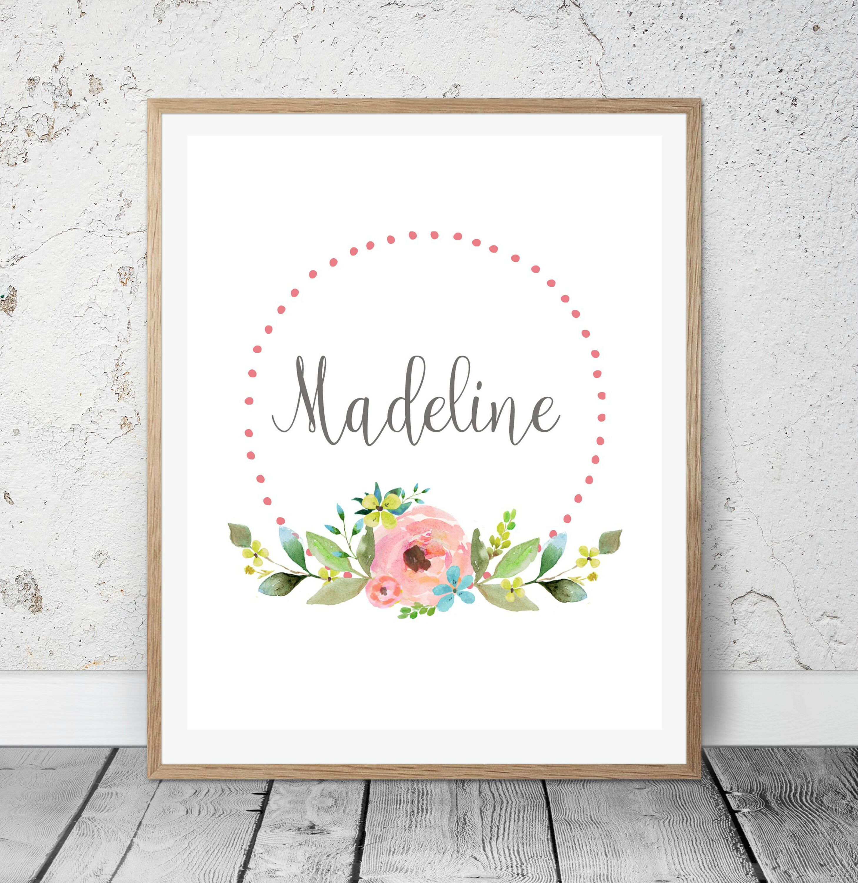 Baby Shower Gift Personalized Wall