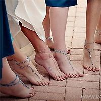DIY Jeweled Barefoot Sandals
