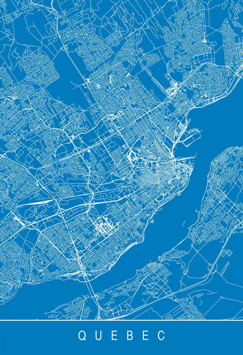 Karte Map Quebec Quebec Kanada Canada Quebec Kanada