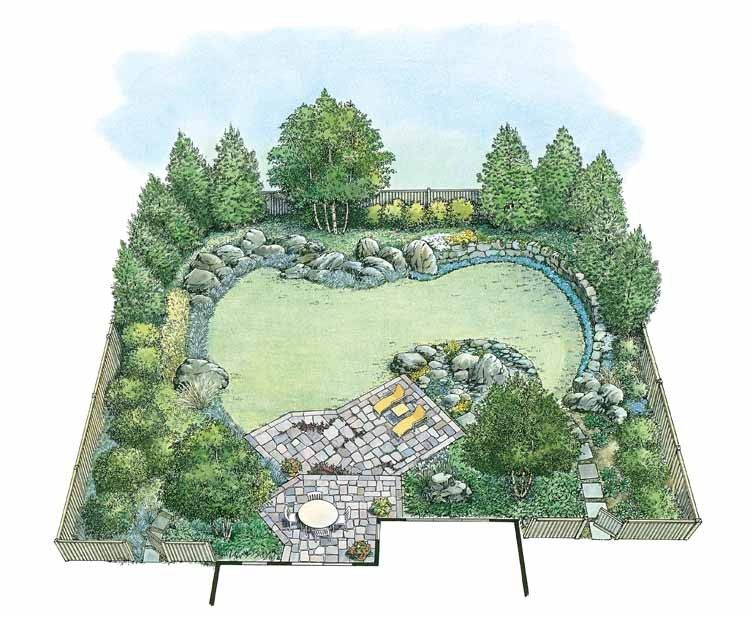 Eplans Landscape Plan Cultivate Your Own Rock Garden From Eplans House Plan Code Hw Landscape Plans Garden Design Layout Landscaping Landscape Design Plans