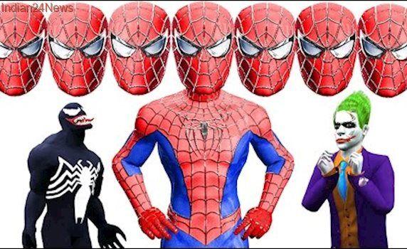 Spiderman Got Ten Heads Vs Frozen ELsa Venom Joker Hulk Superheroes Babies Scream Face Killer Clown