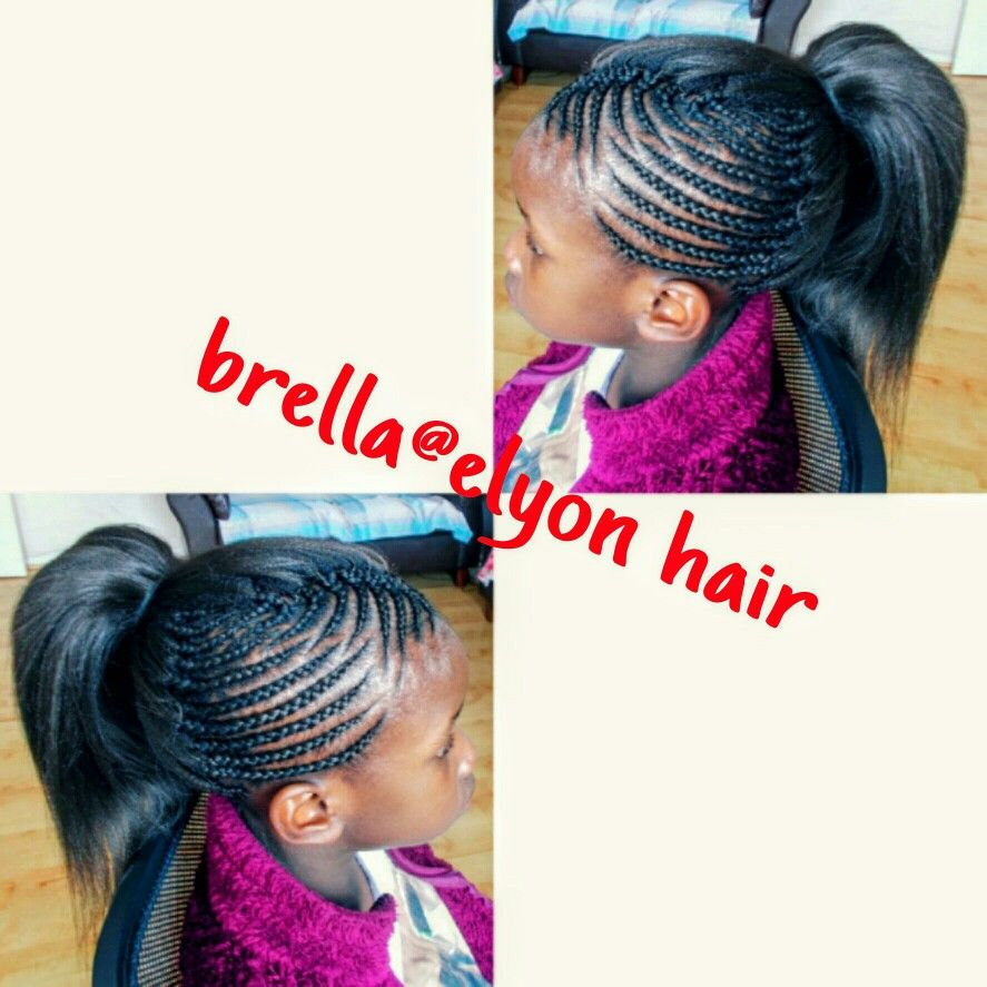 pick and drop with cornrow on the side | kids hairstyles