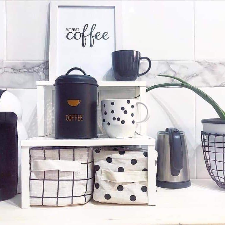منظمات الميتال من ايكيا الاسماعيليه شارع شبين الكوم خلف العمده ماركت بجوار Lush 01200113115 01220323633 يوجد شحن Love Decor But First Coffee Decorative Jars