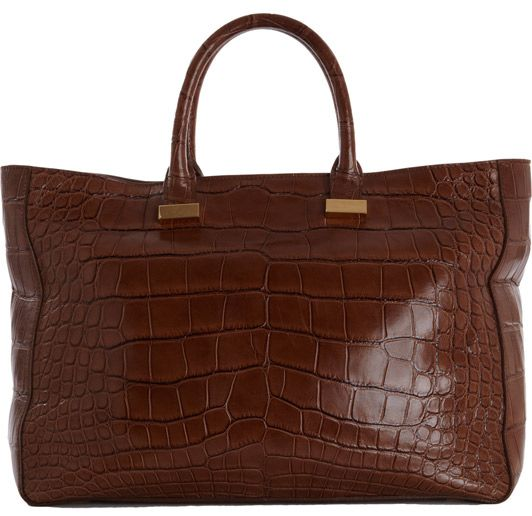 Alligator Day Luxe Tote, £24,218 by The Row from Barneys  Luxurious indeed; this tote retails at $39,000 and actually can't be shipped to the UK because its hefty price tag exceeds the maxiumum price for shipping. But if you really want this piece of arm candy, you may as well charter a private jet to go and pick it up in Manhattan.