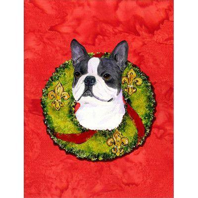 Boston Terrier 2 Sided Garden Flag