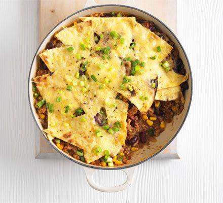 Turkey tortilla pie | Recipe | Bbc good food recipes ...