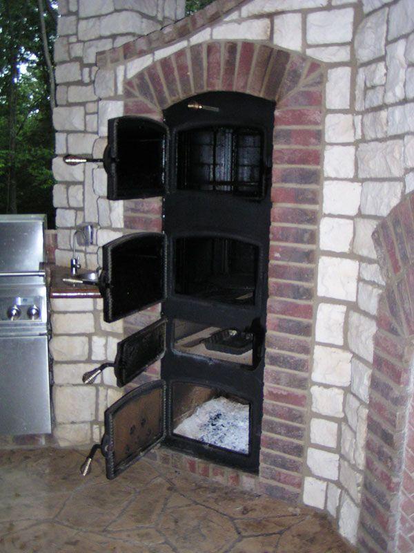 Custom Built In Smokers Pictures Brick Bbq Outdoor Kitchen Design Outdoor Smoker