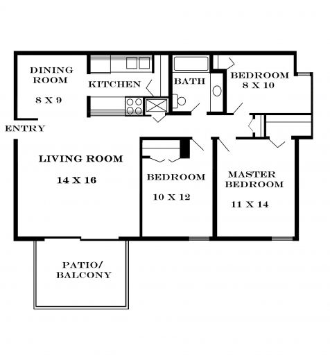 Three Bedroom Flat Floor Plan Home Plans Ideas Picture Small House Bedrooms