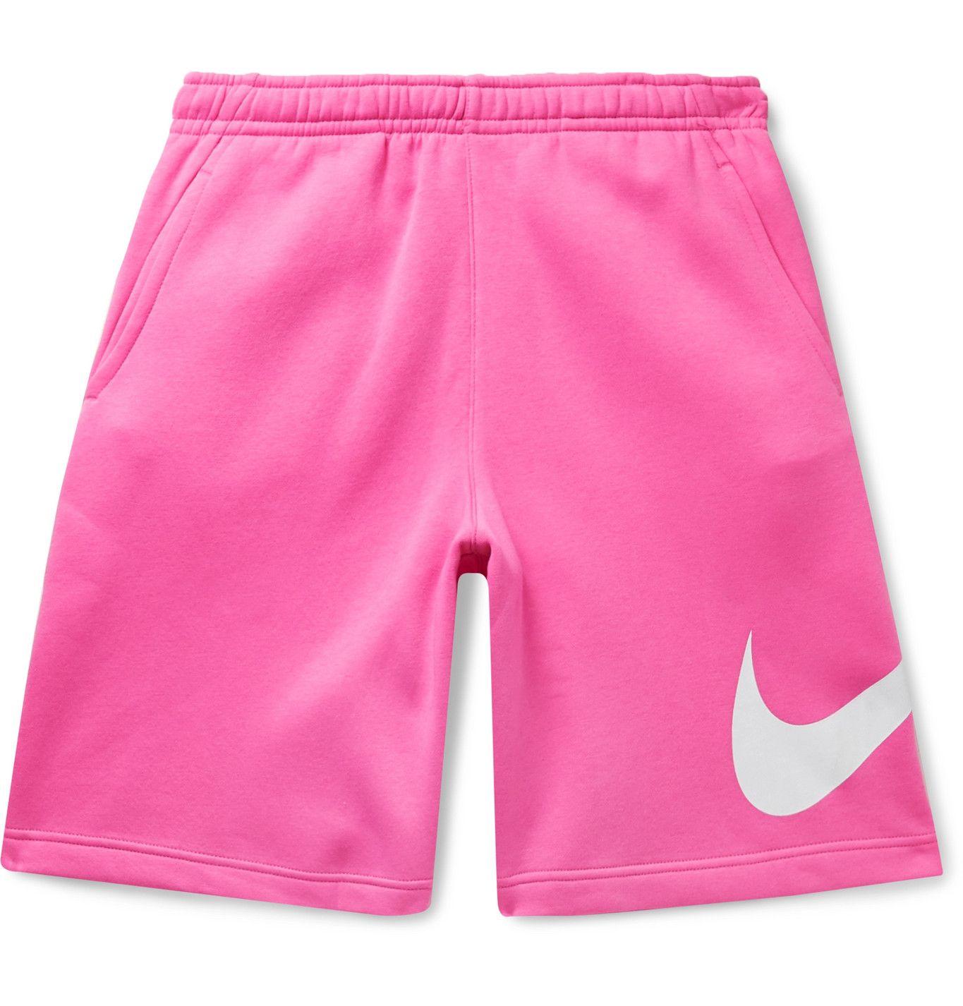 Pink Sportswear Club Logo-Print Fleece-Back Cotton-Blend ...
