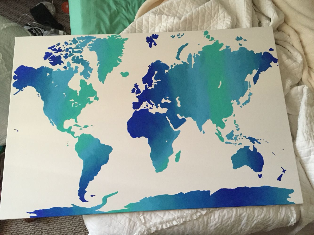 Ombr world map canvas painting canvas pinterest world ombr world map canvas painting gumiabroncs Choice Image