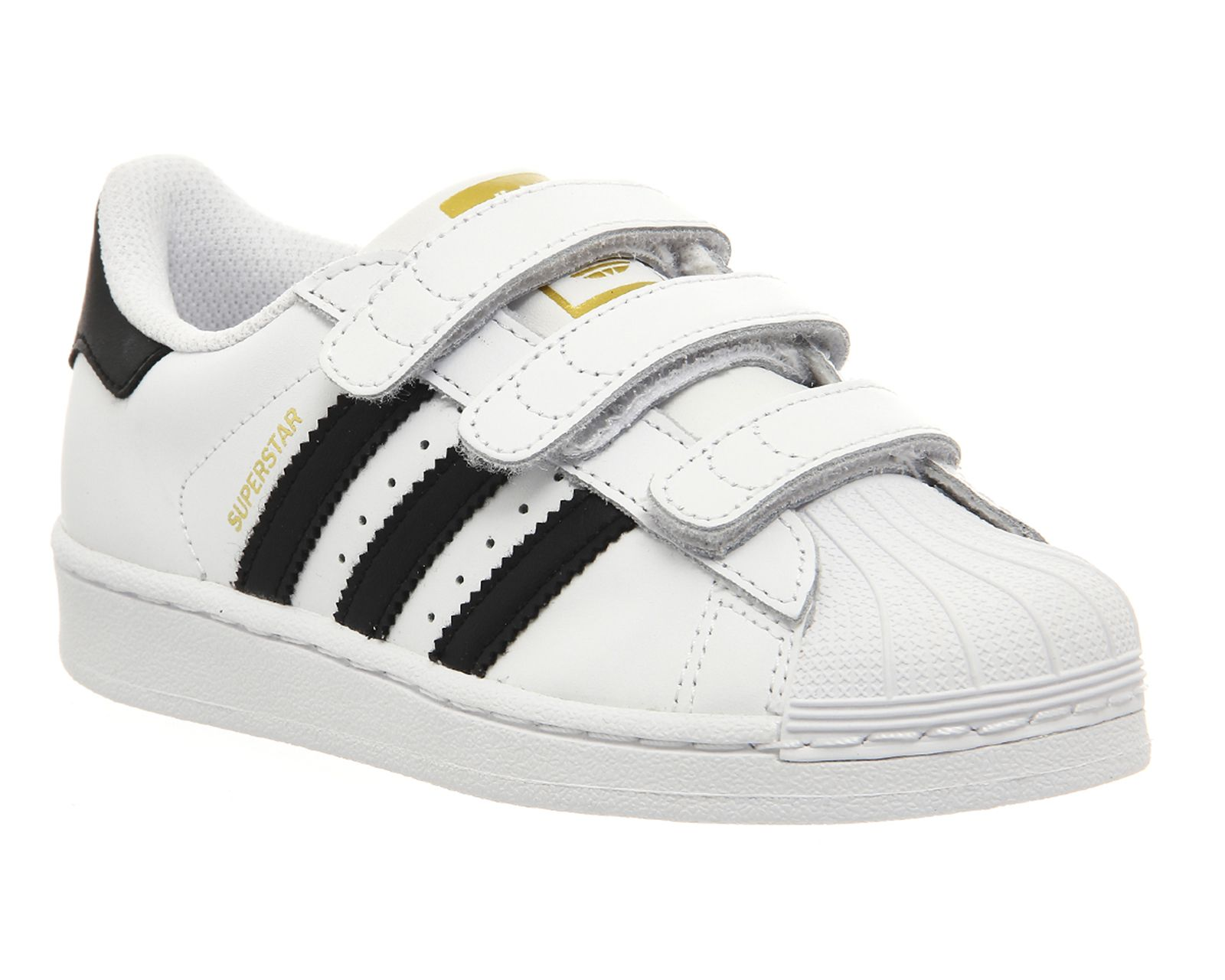 Adidas Superstar Kids 10-2 White Black White Velcro - Unisex