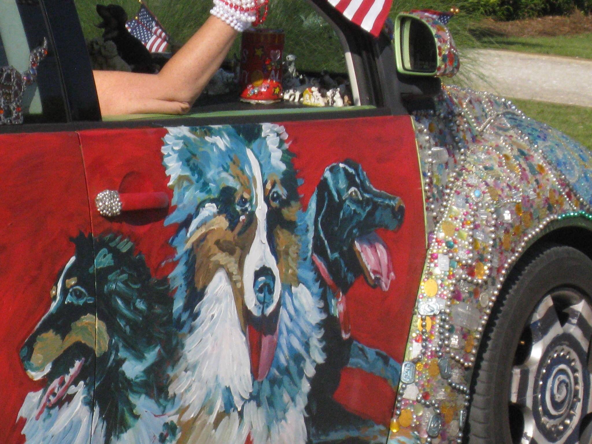 Sheltie Art Car