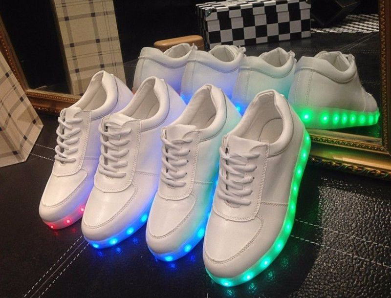 Very Trendy Very Hip The Latest Craze In Casual Luminescent Tennis Shoes Wear It Anytime Anyplace Wear It Out On The To Glow Outfits Neon Shoes Glow Shoes