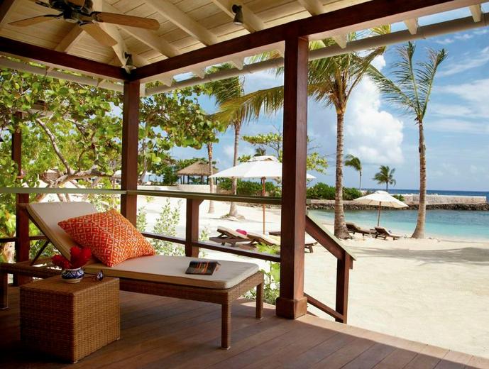 The beach at Goldeneye, Jamaica