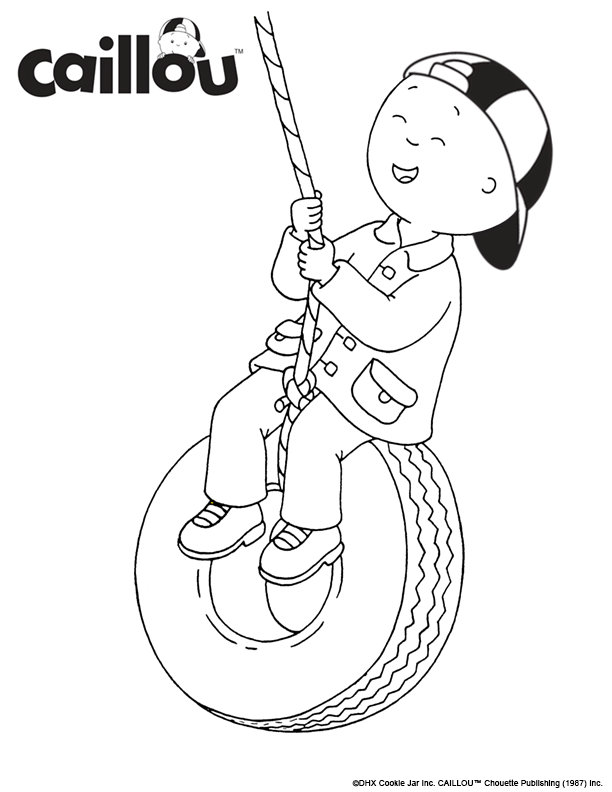 Print & Color - Caillou is swinging into Fall! | Caillou Coloring ...