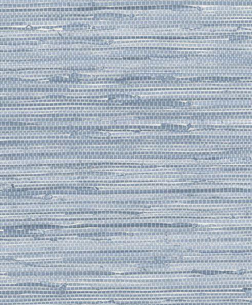 York Wallcoverings Nautical Living Horizontal Grasscloth: Blue Simulated Grasscloth Wallpaper