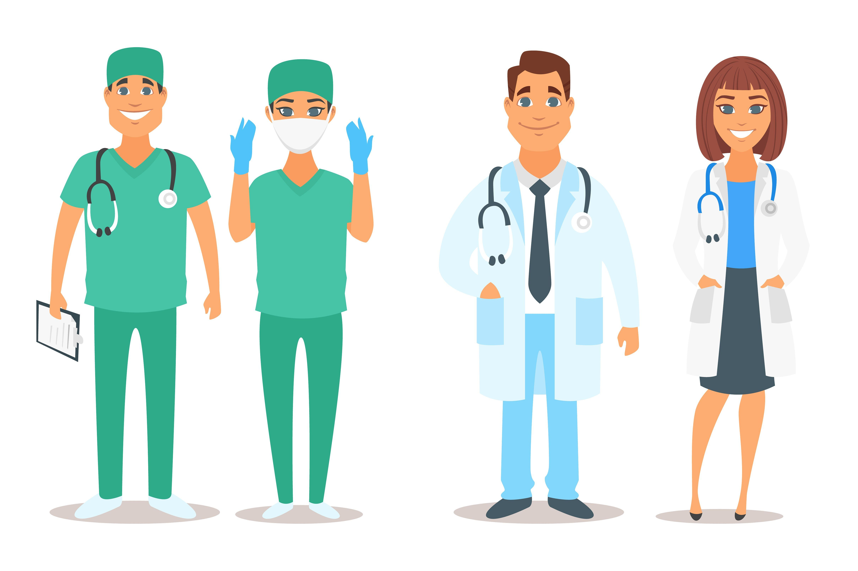 Hospital Building And Doctors Hospital Cartoon Nurse Cartoon Doctor Drawing