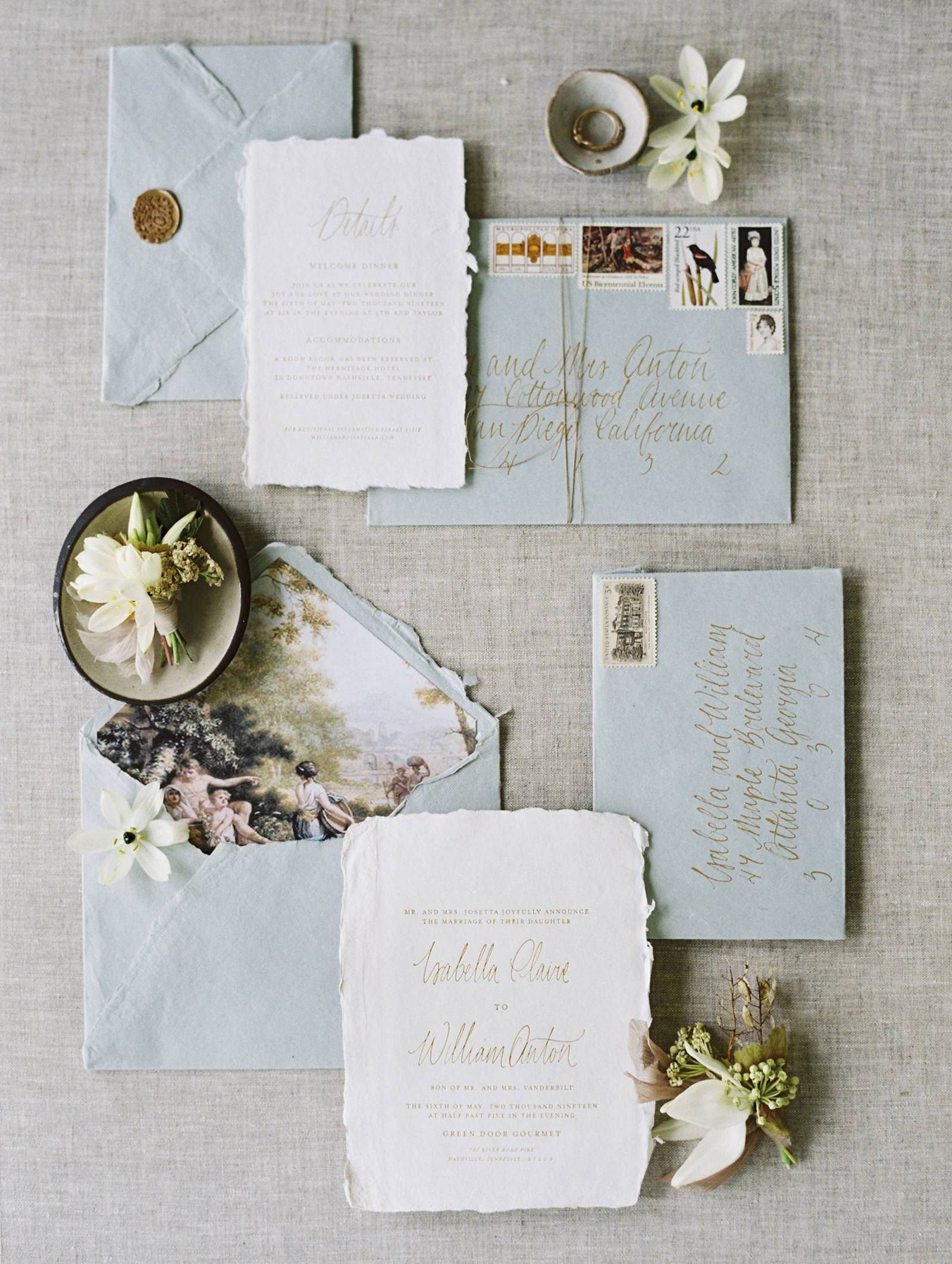 Paper Files No 1 Beautiful Wedding Stationery You Should Consider For Your Wedding Invitations Romantic Blue Wedding Stationery Beautiful Wedding Stationery