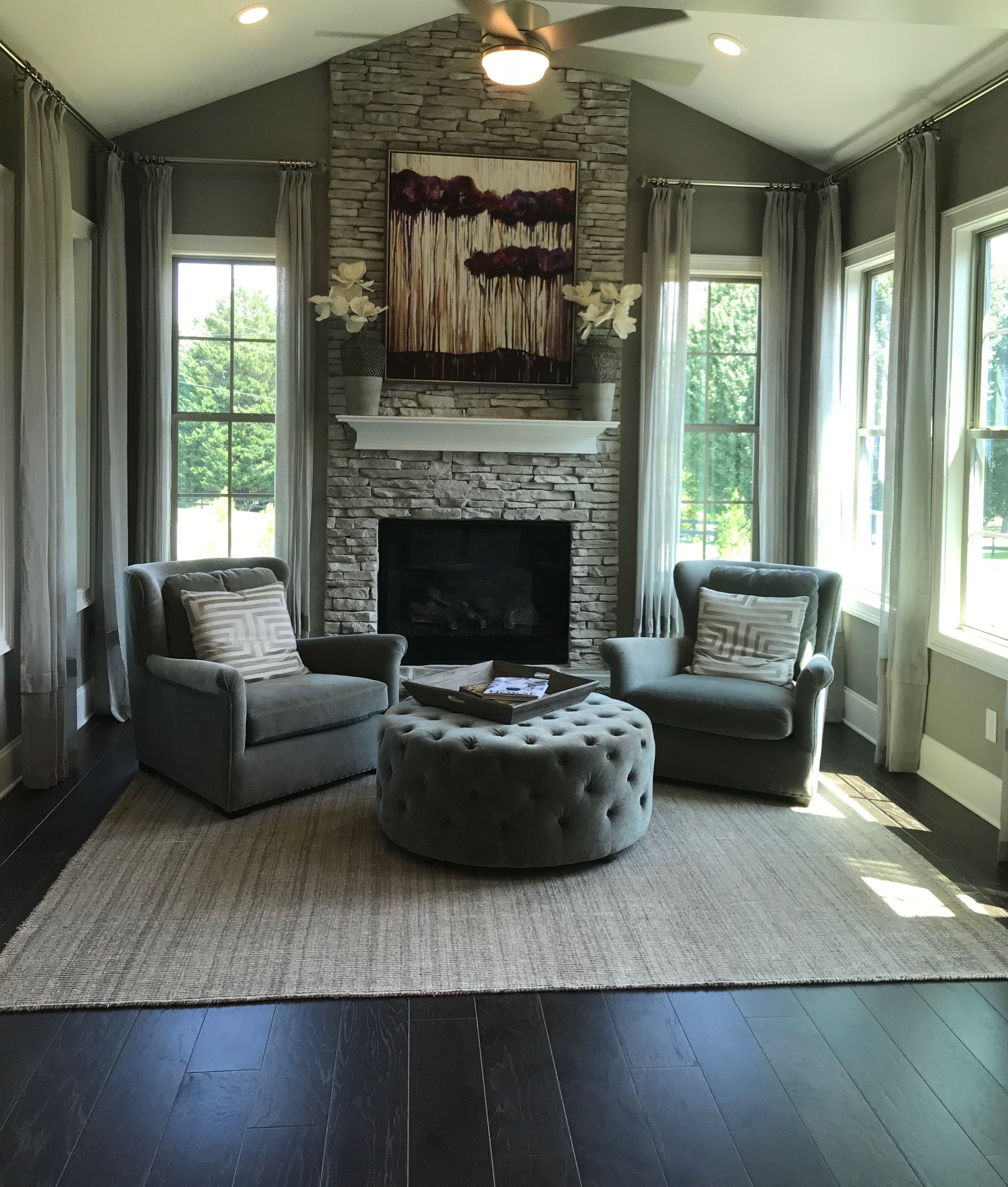 This Living Room Is Set Up Symmetrically Around The