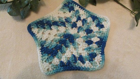 Set of 2 100 Cotton Blue and White Multi by TheFlyButterFactory, $5.95