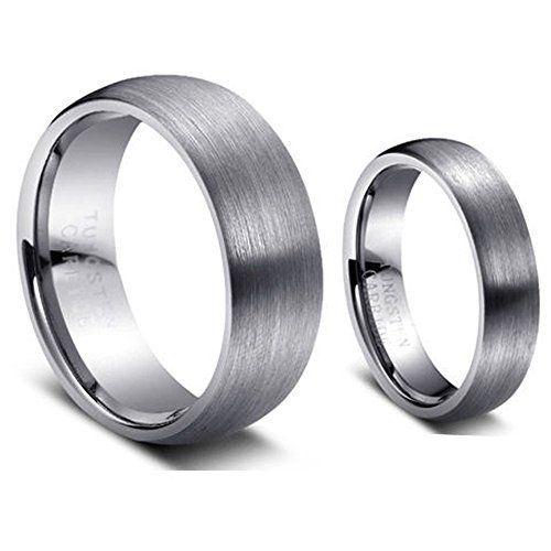 Men & Women's 8MM/6MM Brushed Finish Domed Tungsten Carbide Wedding Band Ring Set tungsten jeweler http://www.amazon.com/dp/B013H9CTNG/ref=cm_sw_r_pi_dp_o5qzwb0DWM237