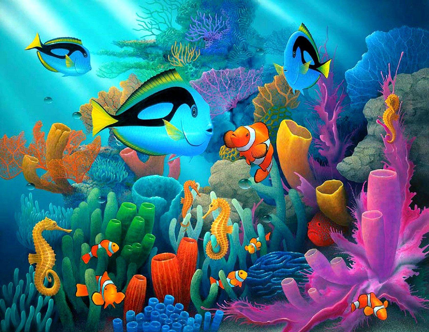 картинки сказки подводный мир автомобиля новый