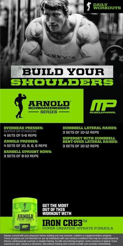 Arnold shoulder workout my musclepharm health fitness arnold shoulder workout my musclepharm malvernweather Choice Image
