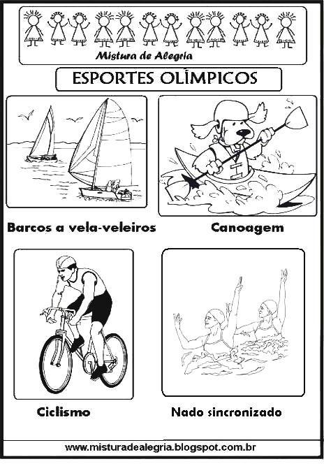 Esportes Olimpicos Para Imprimir Colorir 284 29 Jpg 464 677