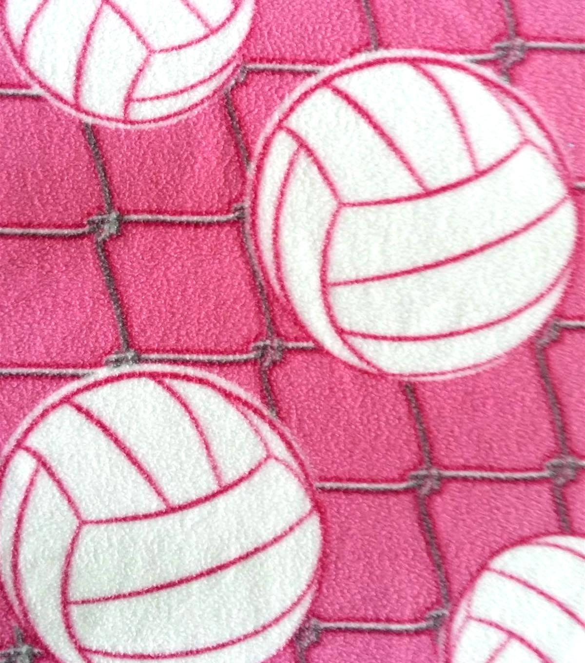 Antipill fleece fabric pink volleyballsantipill fleece fabric pink
