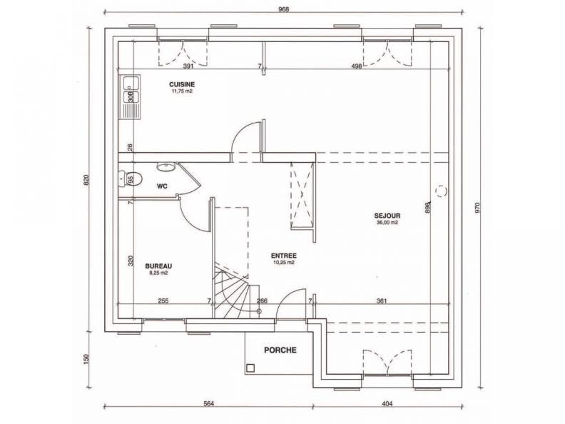 Plan RDC Fontenoy 119 Plans de maisons Pinterest - plan maison 110m2 etage