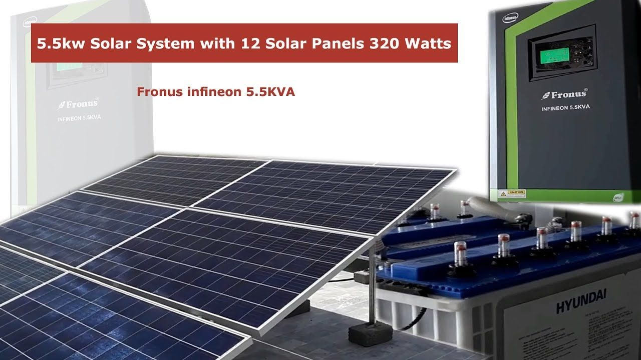 5kva Solar System With 12 Solar Panels 320 Watts 4 Tubular Batteries Fre Solar Panels Free Energy Solar