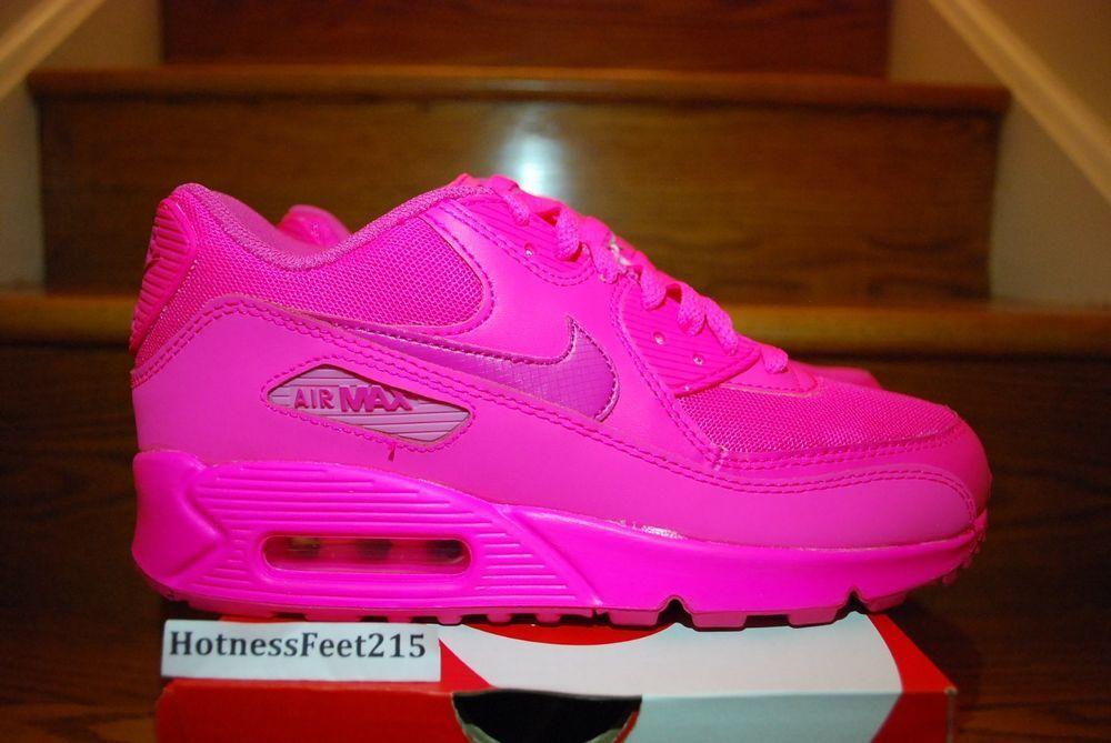 d07af6128d04b Nike Air Max 90 2007 GS Hyper Pink Vivid Color Pack QS 345017-601 NEW  SZ:3.5y-7y in Clothing, Shoes & Accessories | eBay